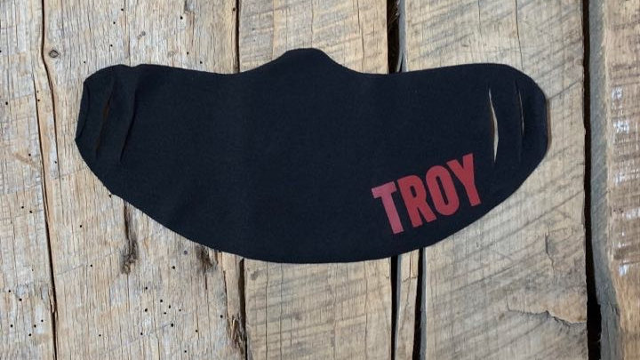 Red TROY face mask