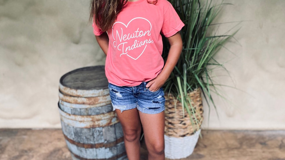 UNISEX ADULT & YOUTH DYED NEWTON HEART TEE