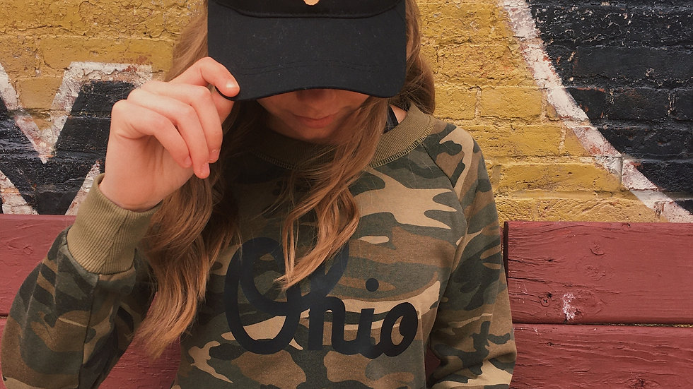 Black Leather Ohio Patch Hat