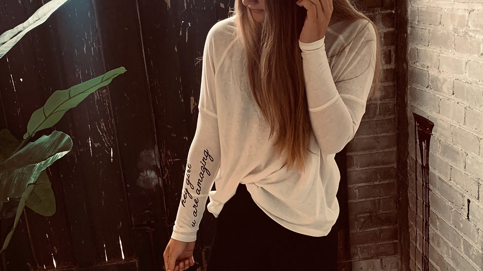 Hey Girl, You Are Amazing Long Sleeve Tunic