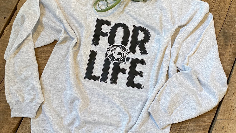 UNISEX ADULT & YOUTH FOR LIFE GRAHAM HEAVY COTTON CREW MECK SWEATSHIRT