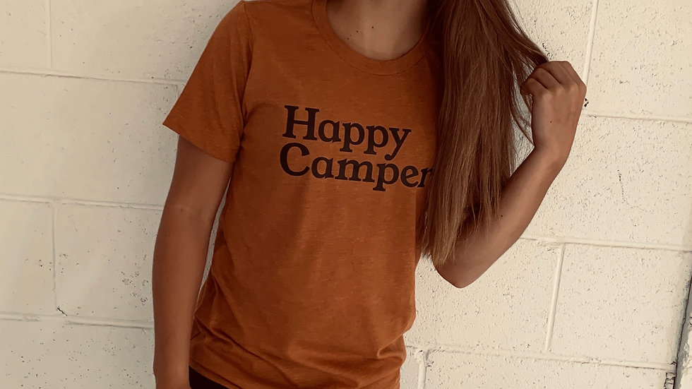 Unisex HAPPY CAMPER TRIBLEND TEE