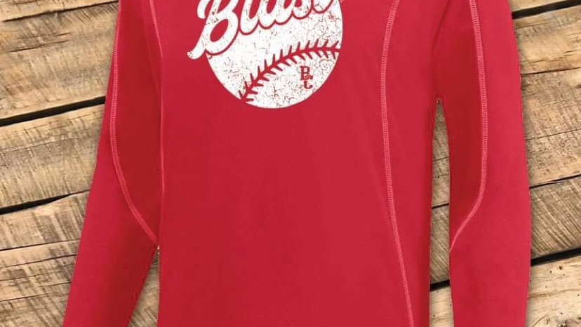 UNISEX ADULT & YOUTH RED WICKING LONG SLEEVE BCF