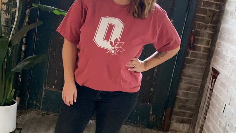 UNISEX ADULT & YOUTH OHIO BUCKEYES RED DYED TEE