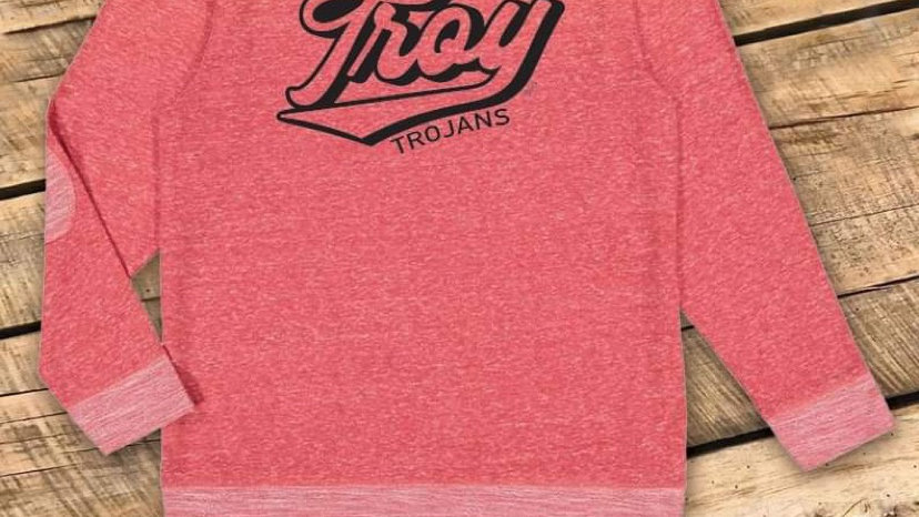 UNISEX ADULT & YOUTH RETRO TROY RED PATCH SWEATSHIRT CF