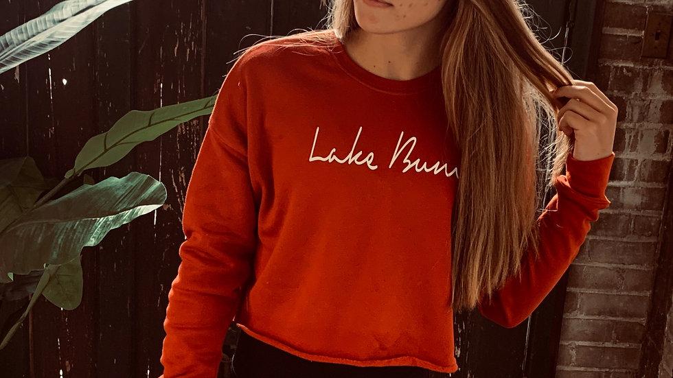 Lake Bum Cropped Crew Sweatshirt