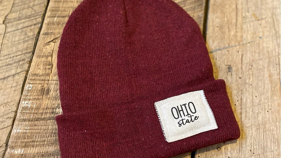 OHIO STATE RED BEANIE