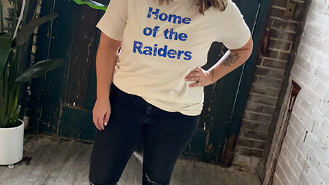 UNISEX ADULT & YOUTH HOME OF RAIDERS TRIBLEND TEE