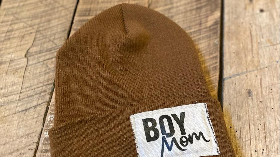 BOY MOM CAMEL BEANIE