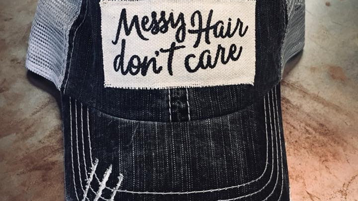 MESSY HAIR DONT CARE VINTAGE HAT