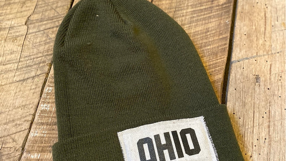 OHIO GREEN BEANIE