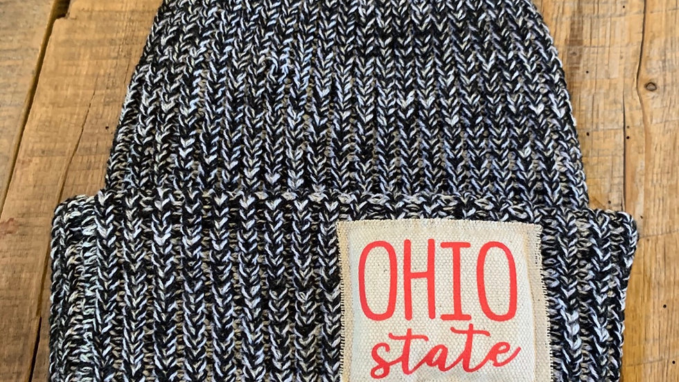 OHIO STATE BLACK FLECK PATCH HAT