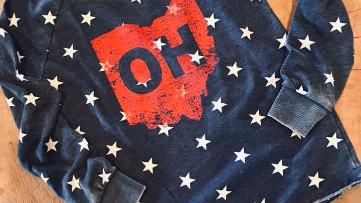 WOMENS STARS OHIO SWEATSHIRT