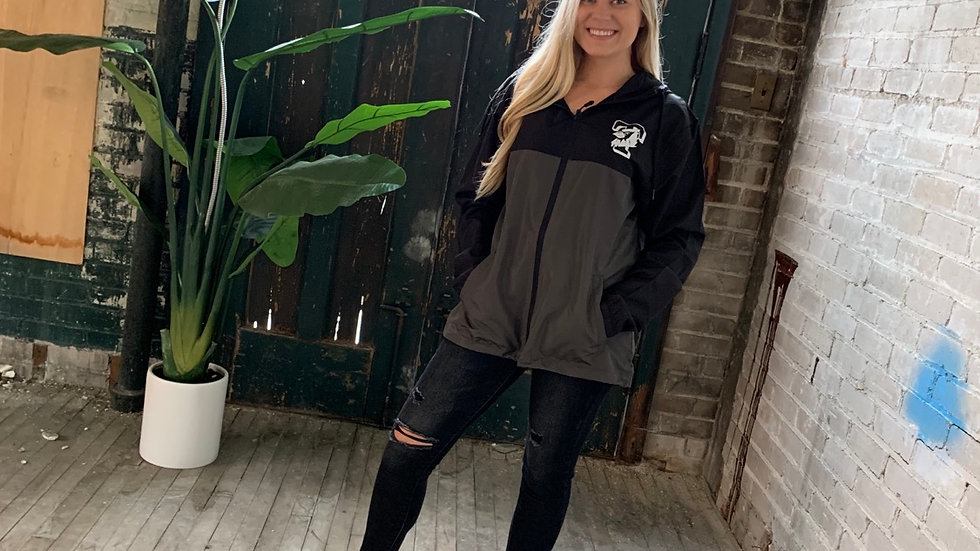 UNISEX ADULT & YOUTH TRIAD T BLACK/GRAY WINDBREAKER