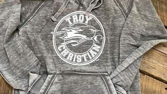 UNISEX ADULT & YOUTH TROY CHRISTIAN CIRCLE DARK VINTAGE HOODIE