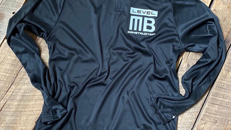 LEVEL MB BLACK QUARTER ZIP