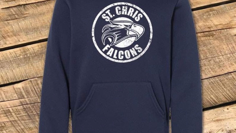 UNISEX ADULT & YOUTH ST CHRIS CIRCLE NAVY TRIBLEND HOODIE
