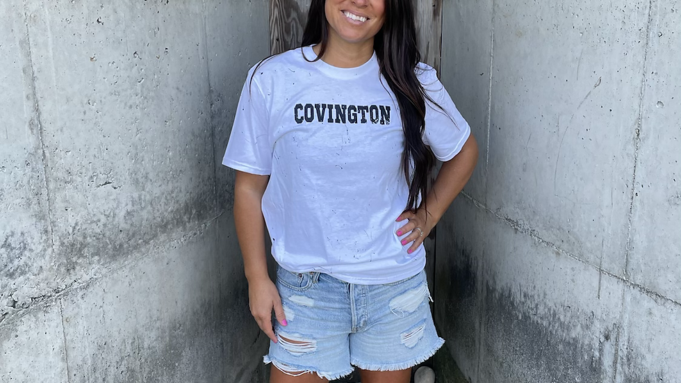Unisex Adult & Youth Covington painted cotton tee