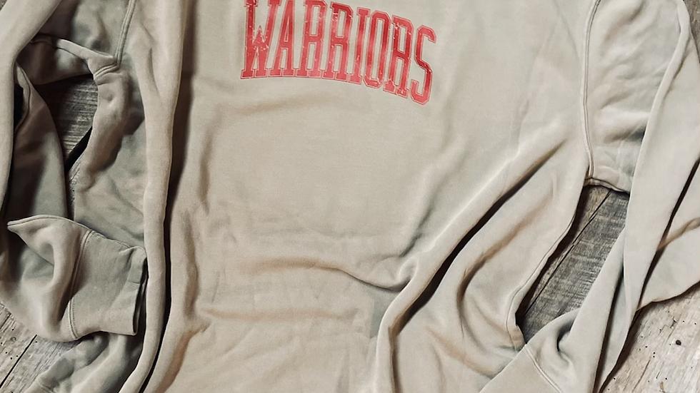 Warriors Unisex vintage dyed crew neck sweatshirt