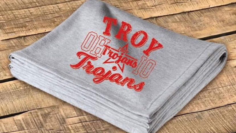 TROY RED RETRO STADIUM BLANKET CF