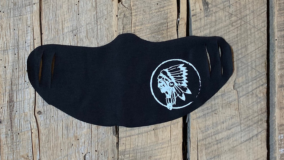 Newton white circle Indian head face mask