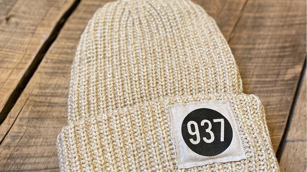 937 PATCH CREAM FLECK BEANIE
