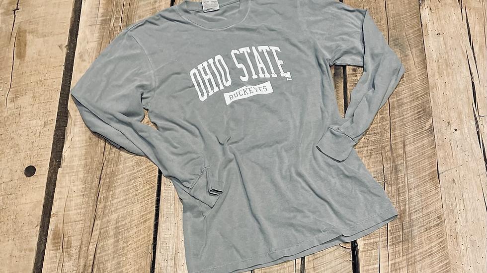 Ohio state unisex gray champion long sleeve tee