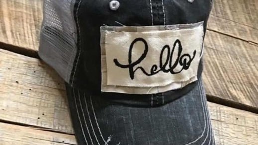 Hello Patch Hat