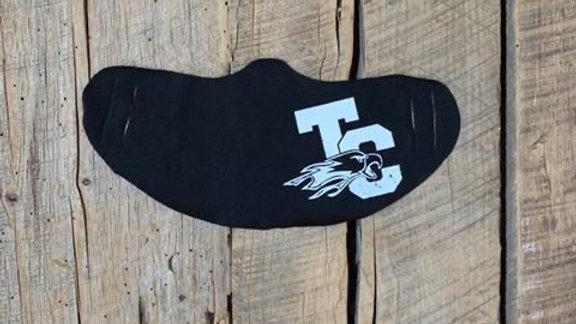 Troy Christian white TC eagle face mask