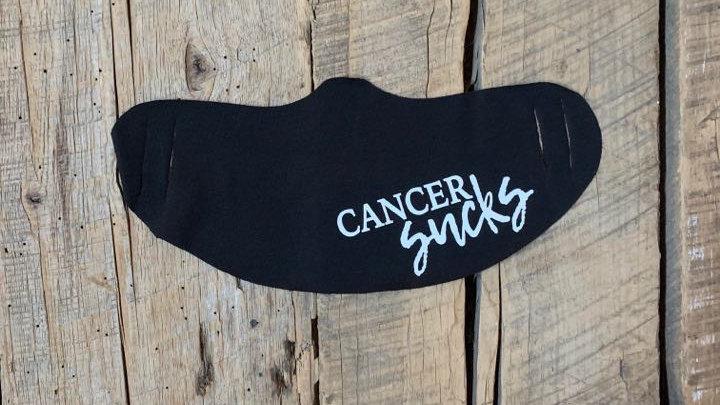 Cancer sucks face mask