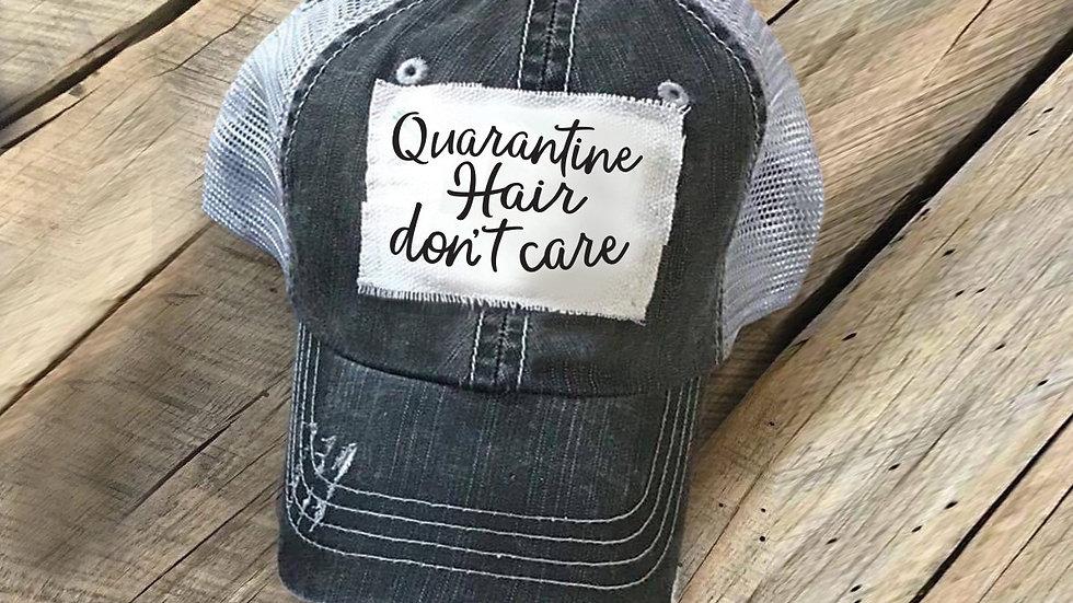 Quarantine Hair Don't Care Patch Hat