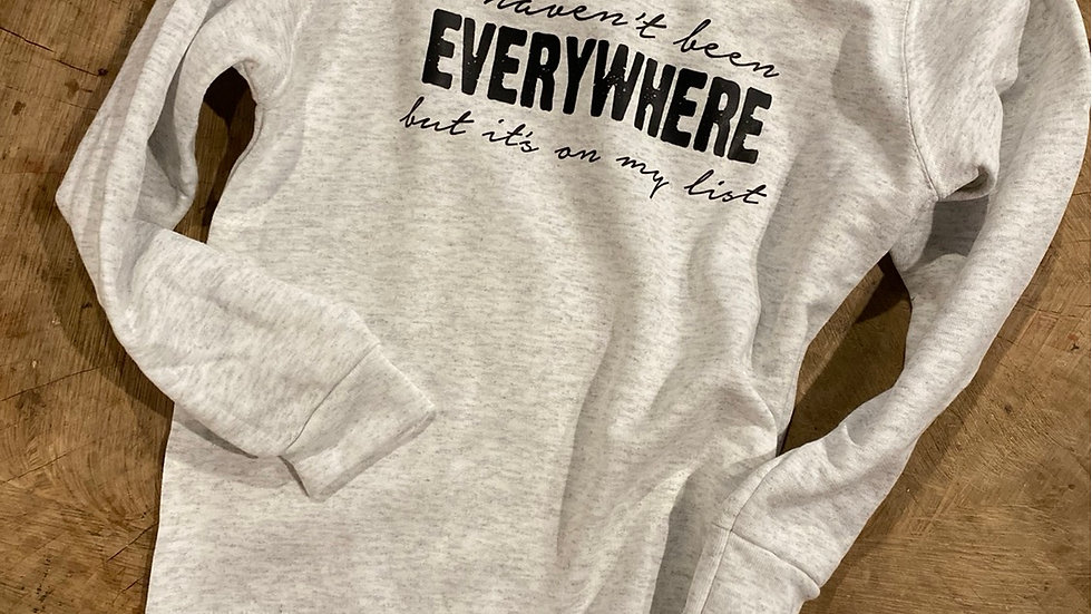 UNISEX ADULT & YOUTH 50 STATES ITS ON MY LIST HEAVY COTTON SWEATSHIRT WITH PEN