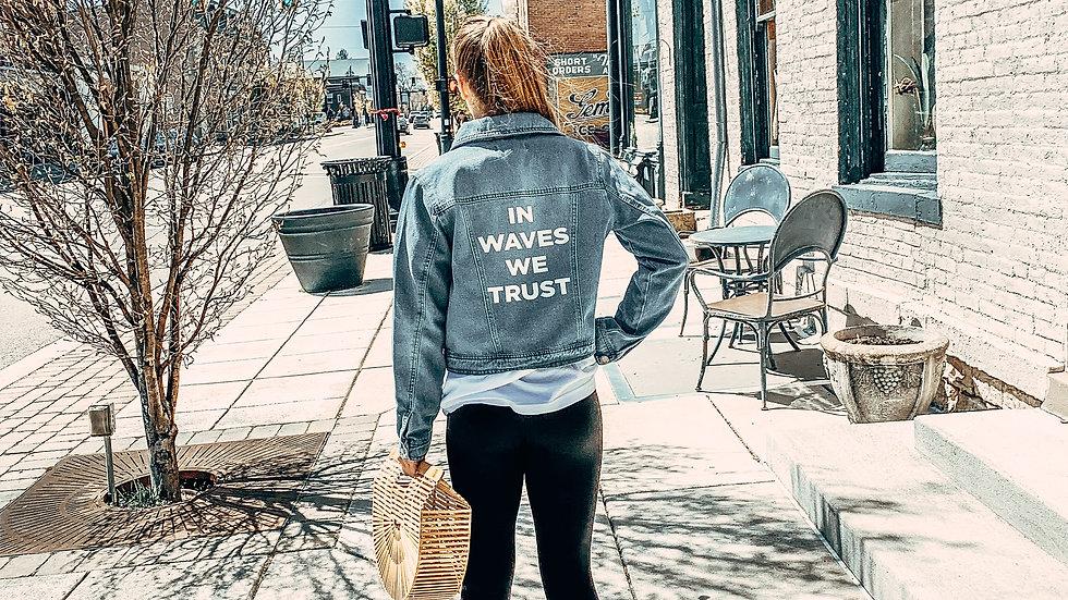 In Waves We Trust Jean Jacket