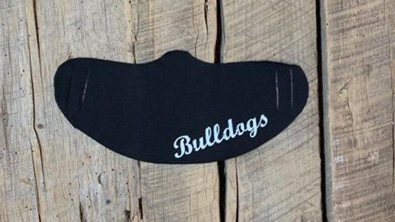 Milton Union white bulldogs face mask