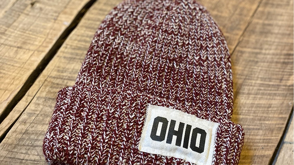 OHIO PATCH RED FLECK BEANIE