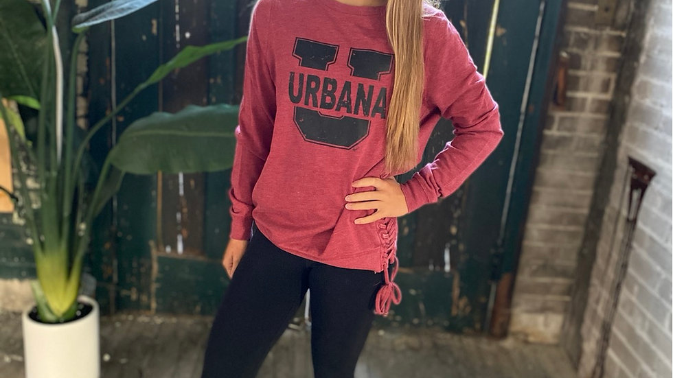 WOMENS URBANA SIDE LACE SWEATSHIRT