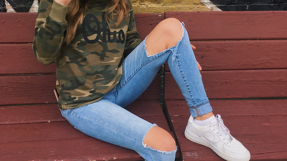 Camo Ohio Women's Sweatshirt