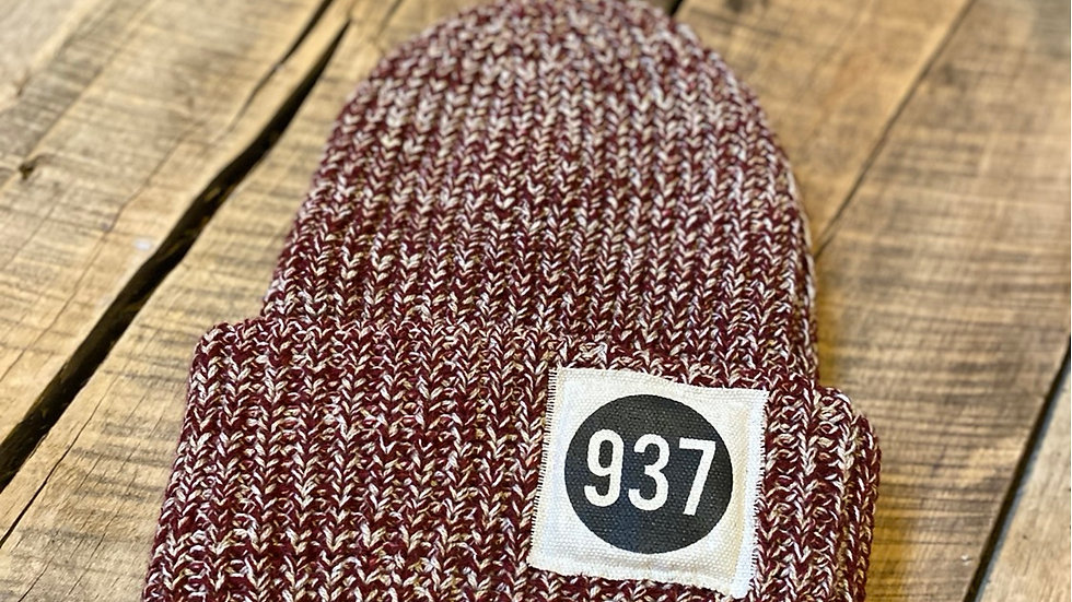 937 PATCH RED FLECK BEANIE