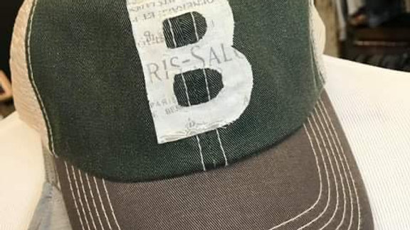 UNISEX FABRIC B GREEN VINTAGE HAT