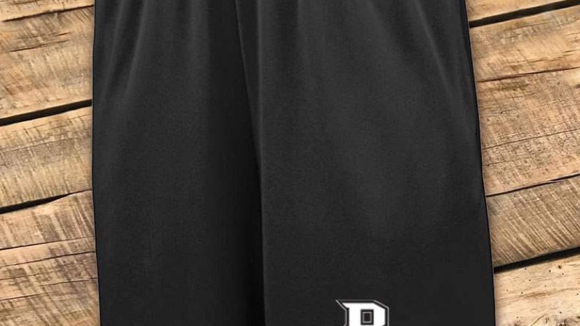 UNISEX ADULT & YOUTH BLACK BC 9IN MESH SHORTS BCF