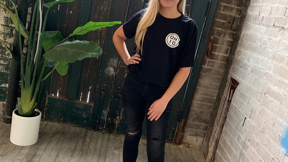 UNISEX ADULT & YOUTH OHIO CIRCLE BLACK TRIBLEND TEE