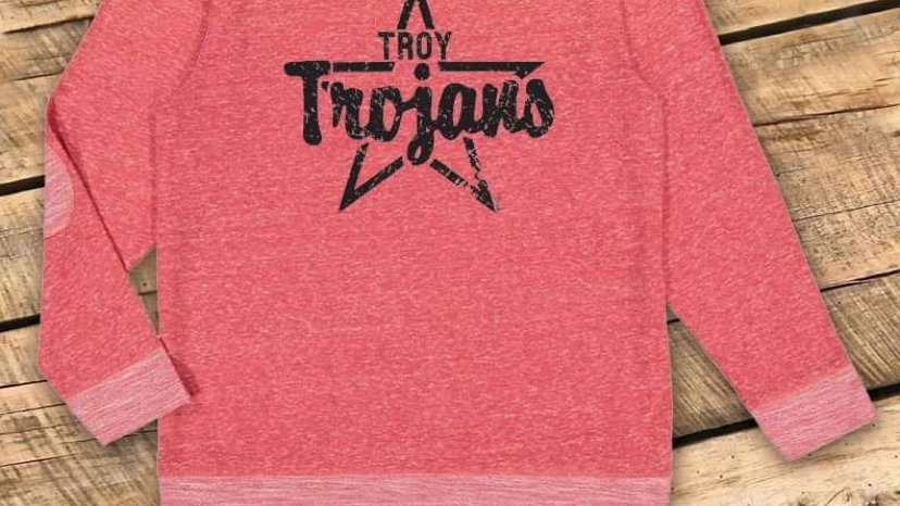 UNISEX ADULT & YOUTH TROY STAR RED PATCH SWEATSHIRT CF