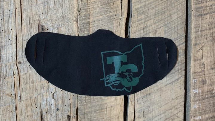 Troy Christian green TC Ohio face mask