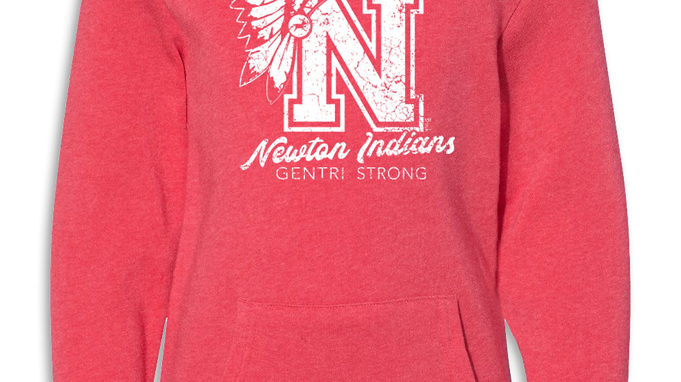 Gentri Strong Fundraiser unisex red hoodie
