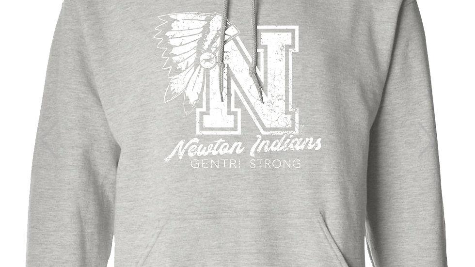 Gentri Strong Fundraiser unisex gray hoodie