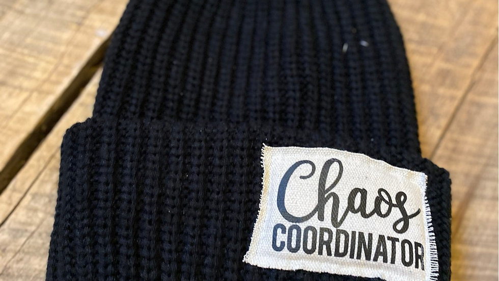 CHAOS COORDINATOR BLACK PATCH BEANIE