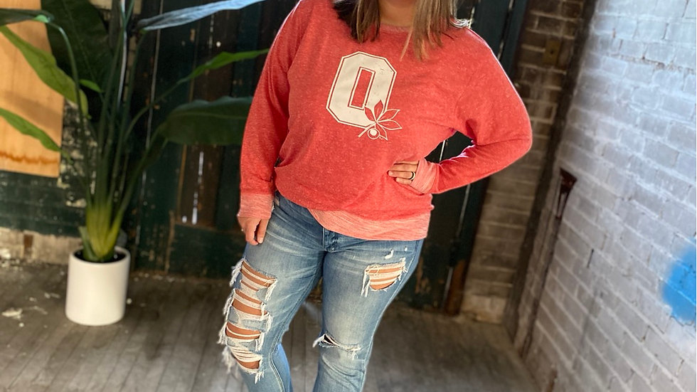 UNISEX ADULT & YOUTH OHIO RED PATCH HARBOR SWEATSHIRT