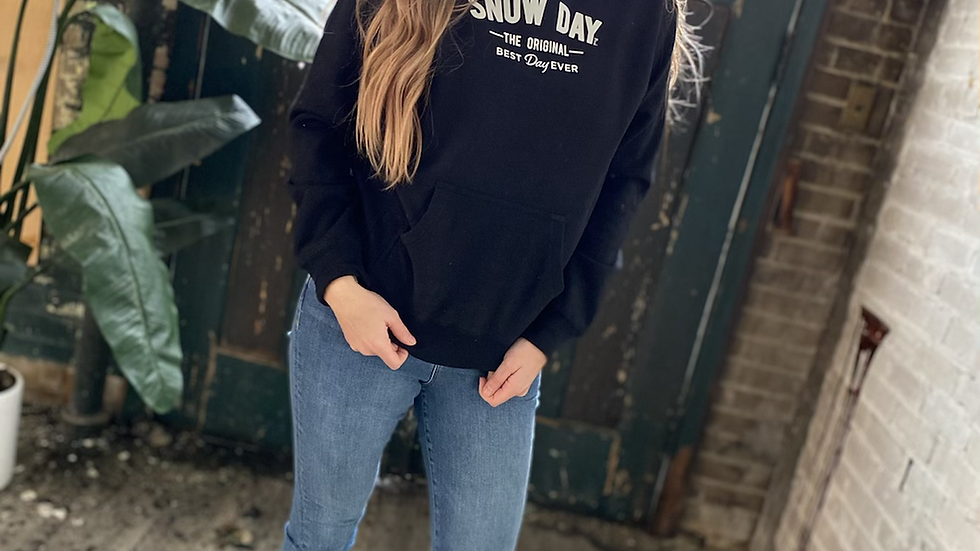 UNISEX ADULT & YOUTH SNOW DAY BLACK HOODIE