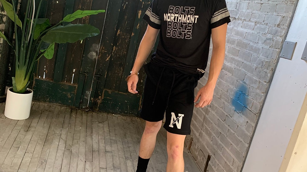MENS BLACK NORTHMONT FLEECE SHORT