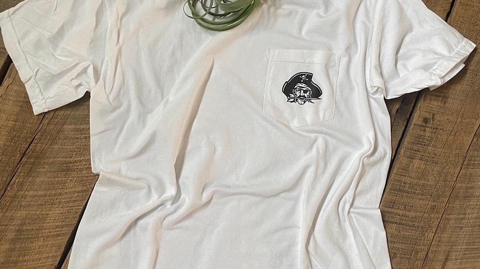 UNISEX COVINGTON WHITE DYED POCKET TEE